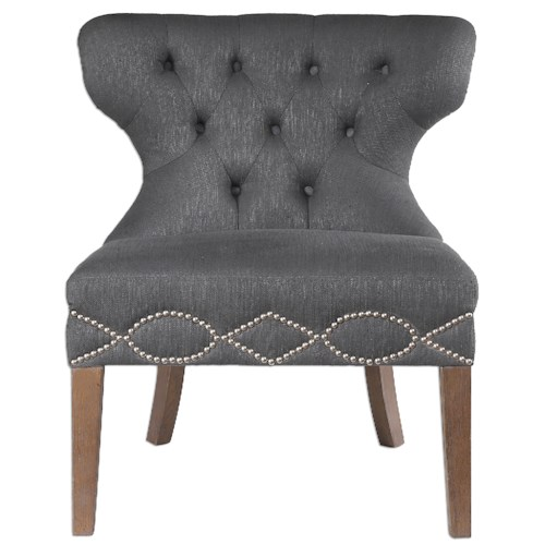 Uttermost Accent Furniture Shafira Gray Armless Chair