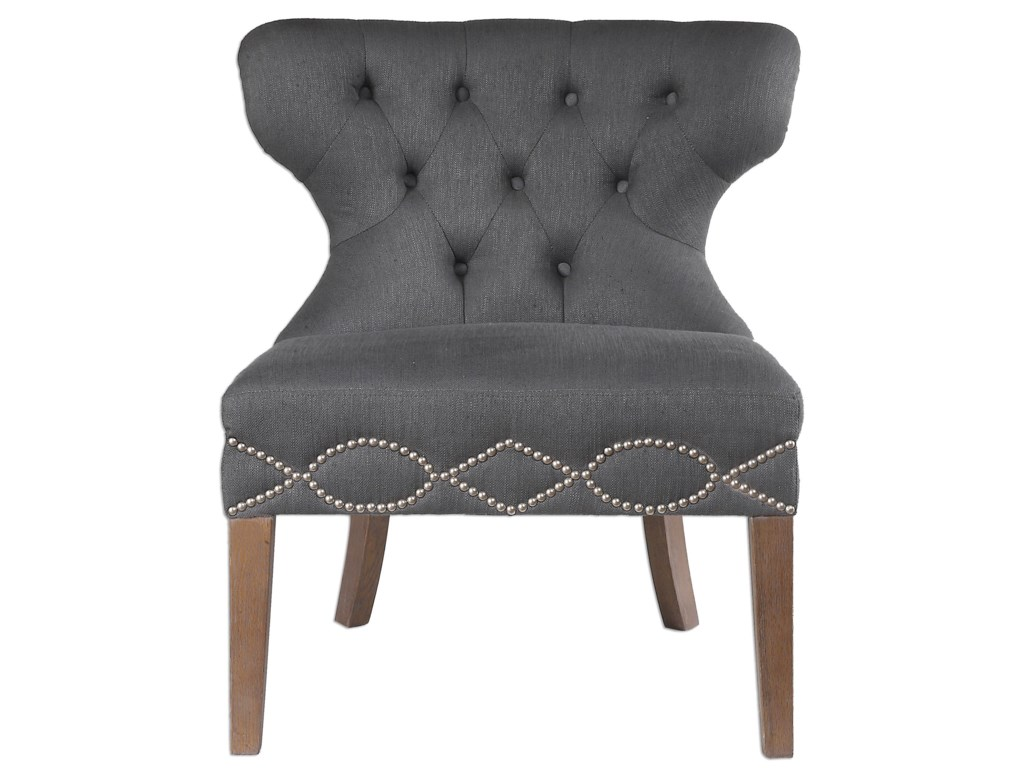 Uttermost Accent FurnitureShafira Gray Armless Chair