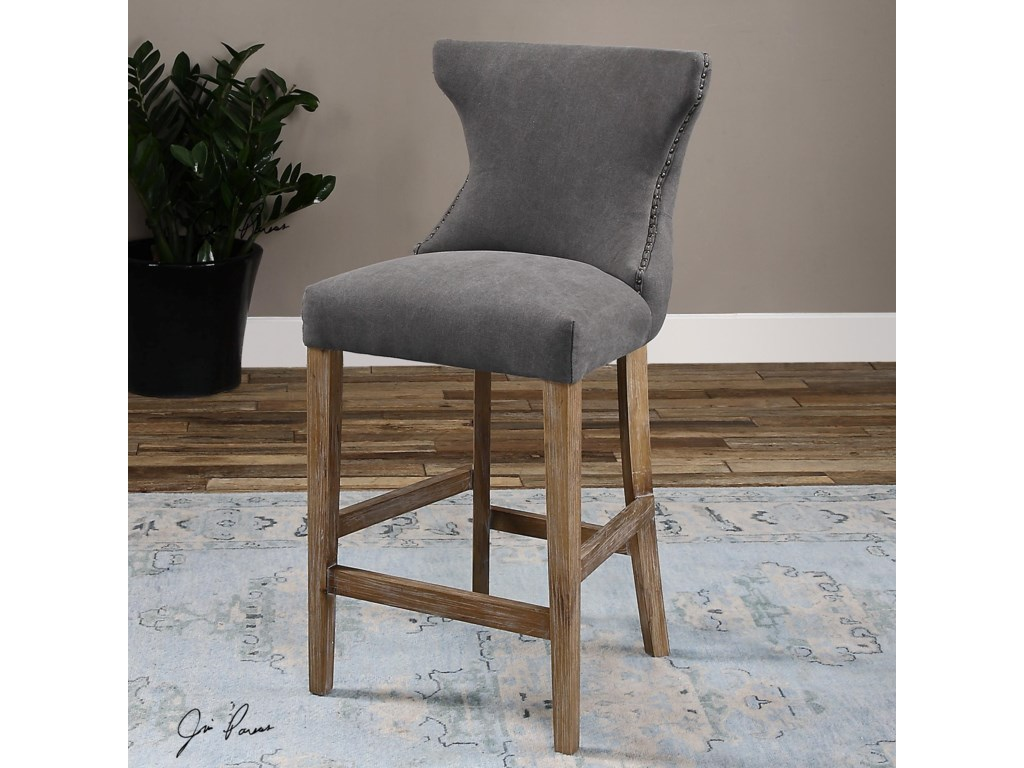 Uttermost Accent FurnitureGamlin Gray Counter Stool