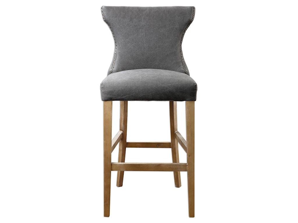 Uttermost Accent FurnitureGamlin Gray Bar Stool