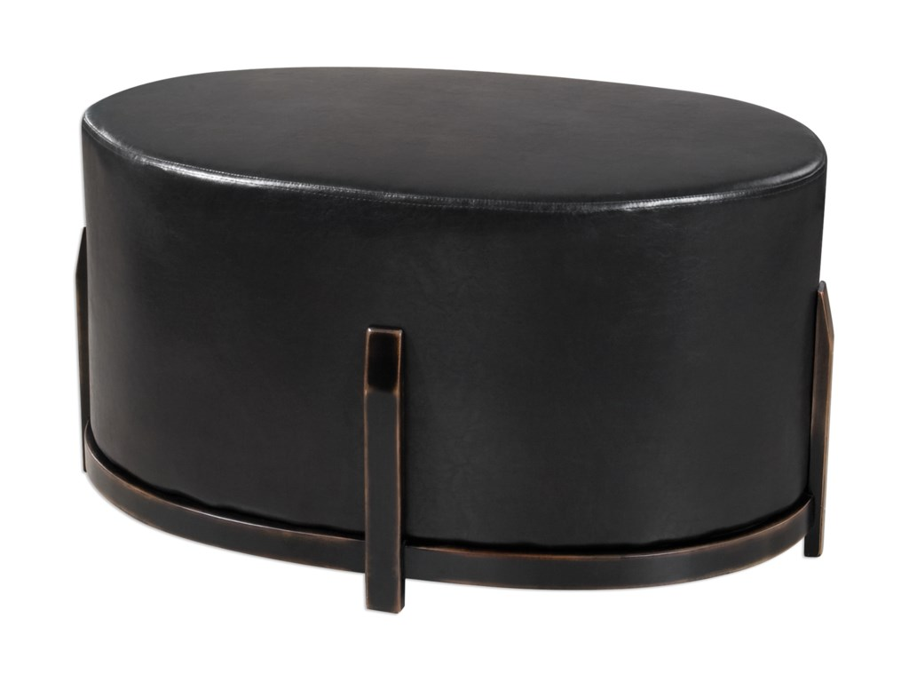 Uttermost Accent FurnitureDesta Espresso Brown Ottoman