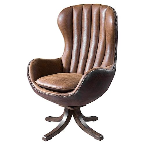 Uttermost Accent Furniture Garrett Mid-century Swivel Chair