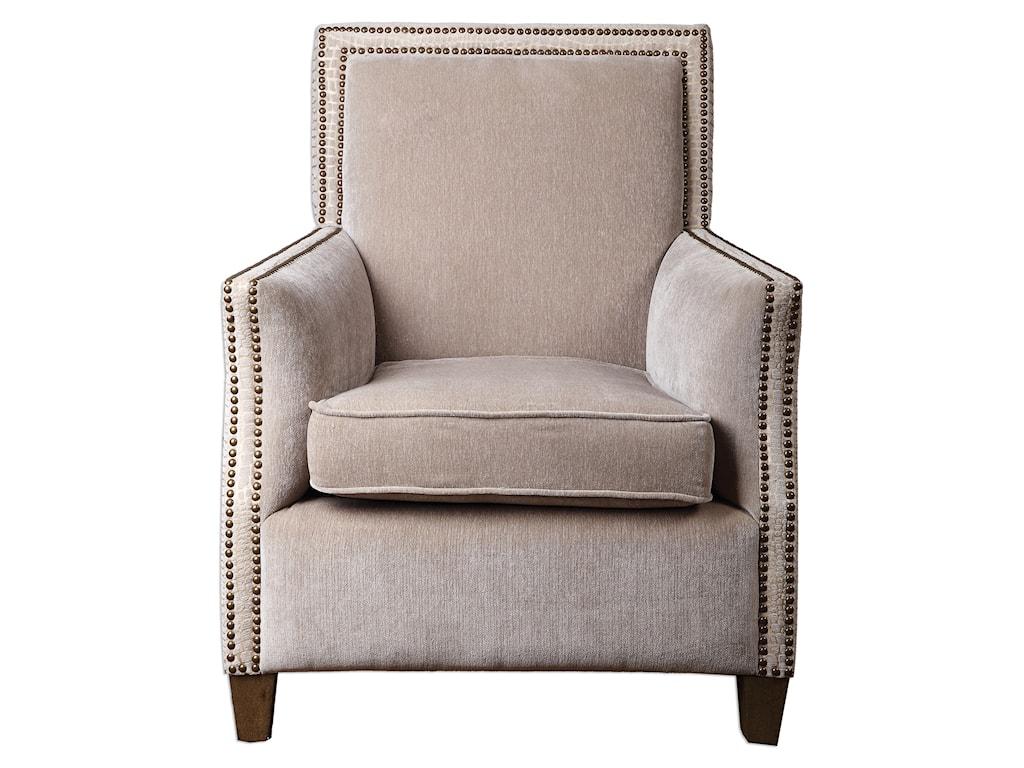 Uttermost Accent FurnitureDarick Oatmeal Armchair