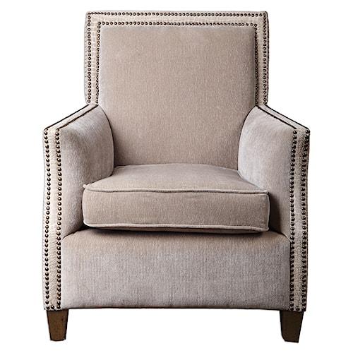 Uttermost Accent Furniture Darick Oatmeal Armchair