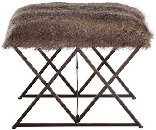 Uttermost Accent Furniture Brannen Plush Small Bench