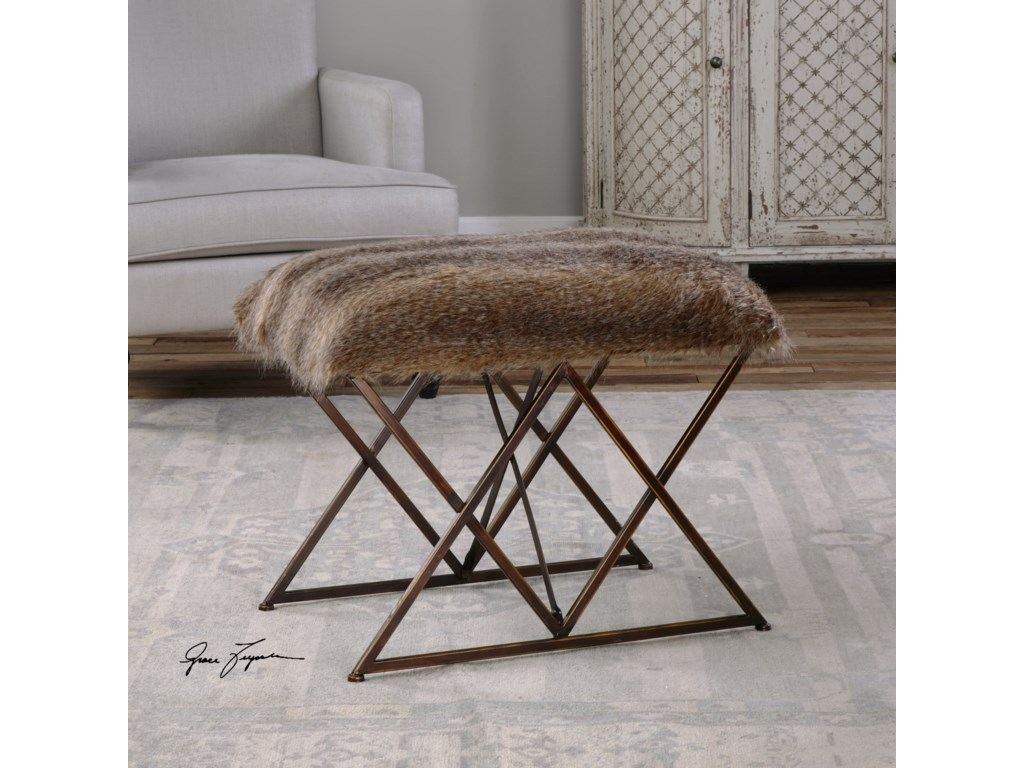 Uttermost Accent FurnitureBrannen Plush Small Bench