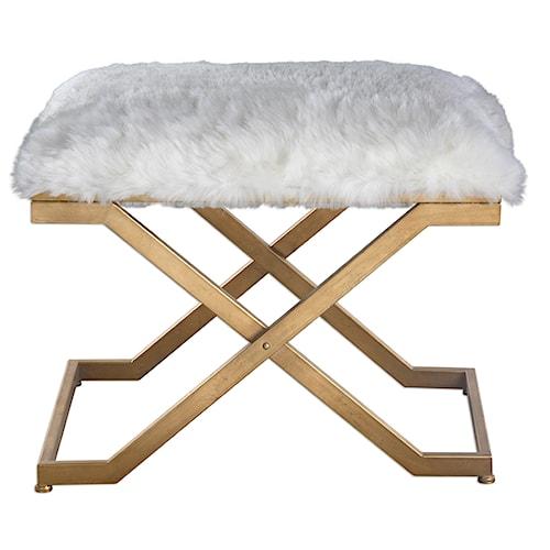 Uttermost Accent Furniture Farran Fur Small Bench