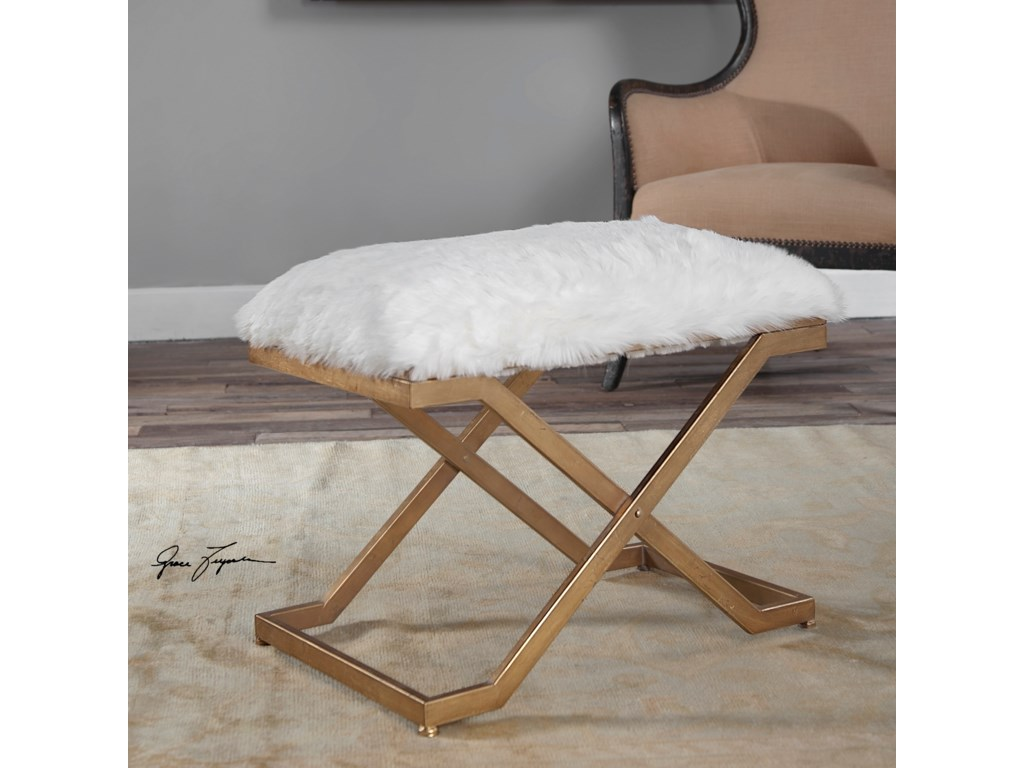 Uttermost Accent Furniture - BenchesFarran Fur Small Bench