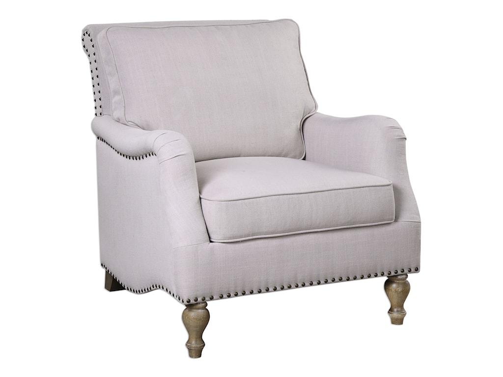 Uttermost Accent FurnitureArmstead Antique White Armchair