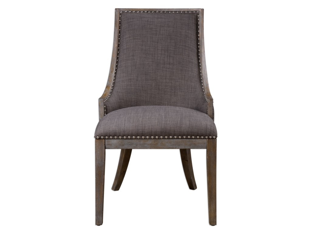 Uttermost Accent FurnitureAidrian Charcoal Gray Accent Chair