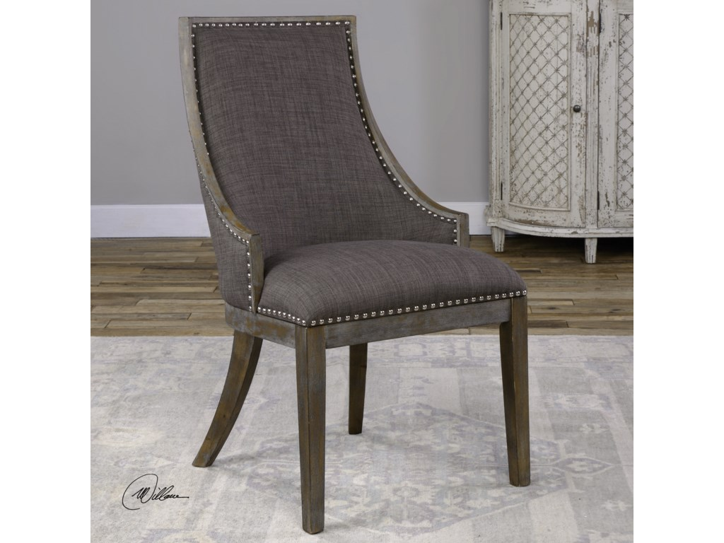 Uttermost Accent Furniture - Accent ChairsAidrian Charcoal Gray Accent Chair