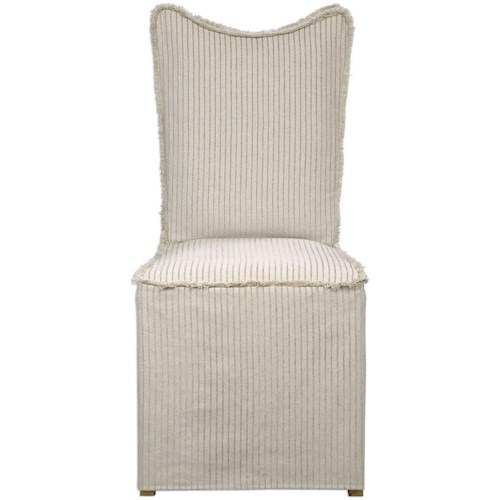 Uttermost Accent Furniture Armless Chair with Slipcover