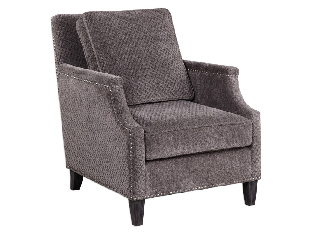 Uttermost Accent FurnitureDallen Pewter Gray Accent Chair