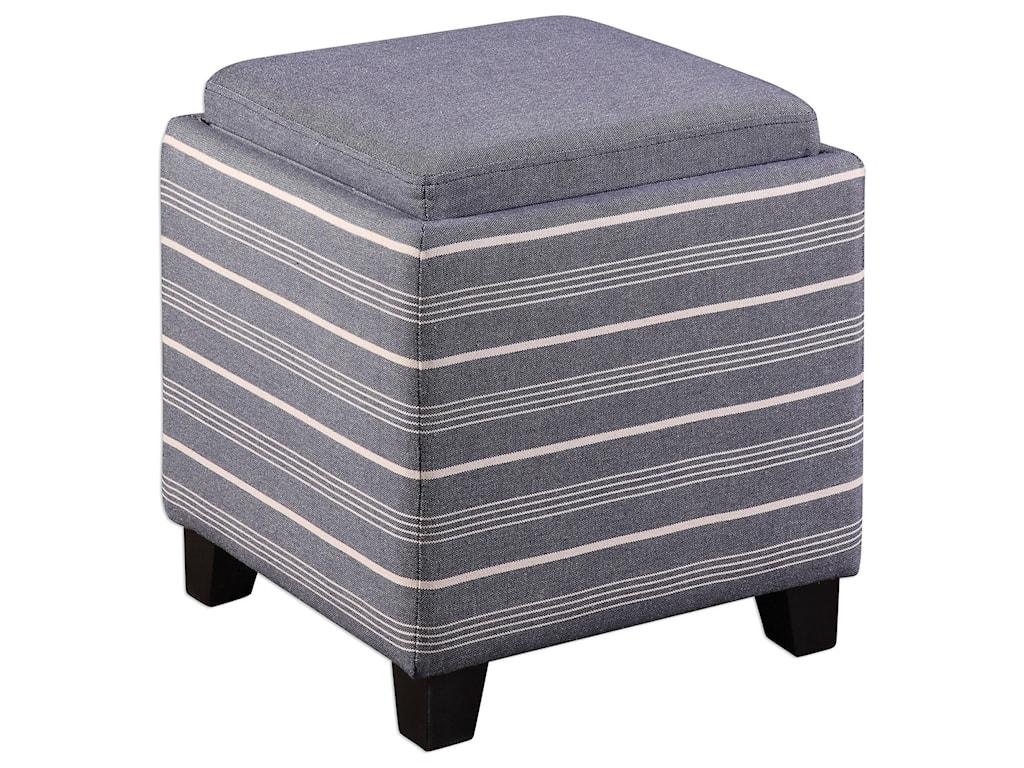Uttermost Accent FurnitureLewis Storage Ottoman