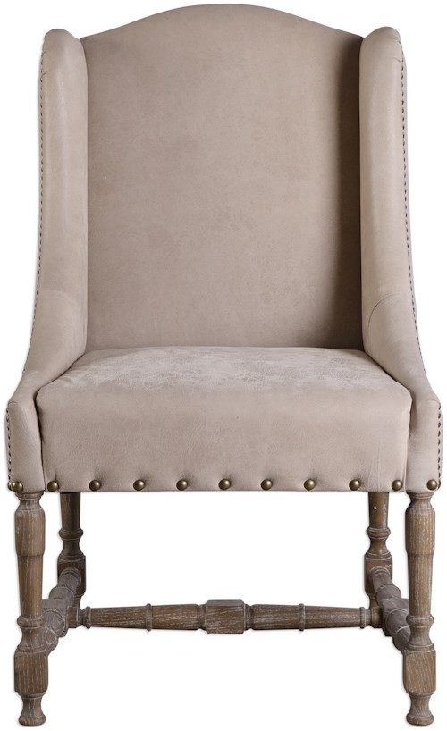 Uttermost Accent Furniture  Lyra Leather Accent Chair