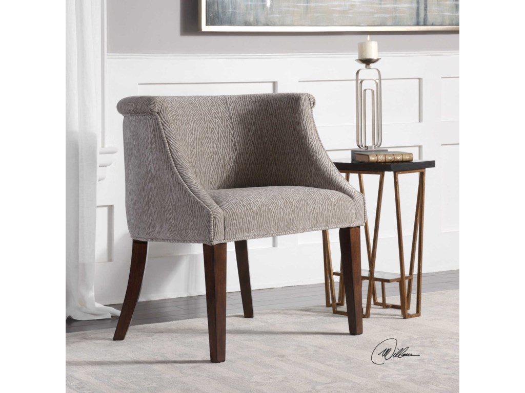 Uttermost Accent FurnitureArthure Barrel Back Accent Chair