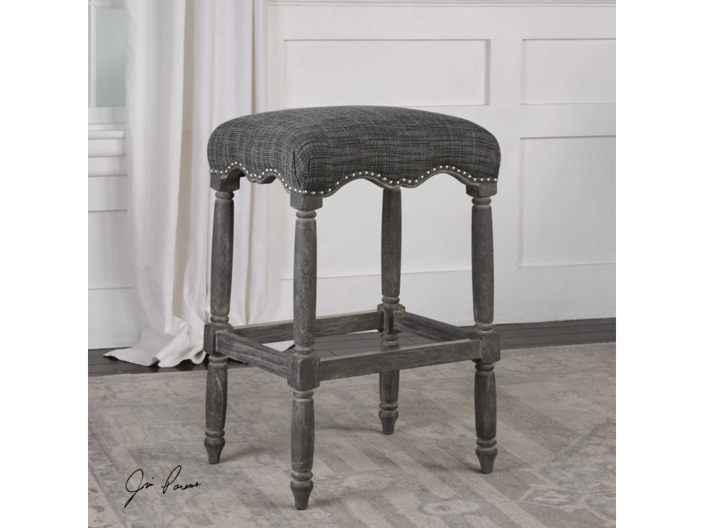 Uttermost Accent FurnitureAiden Brown Gray Bar Stool