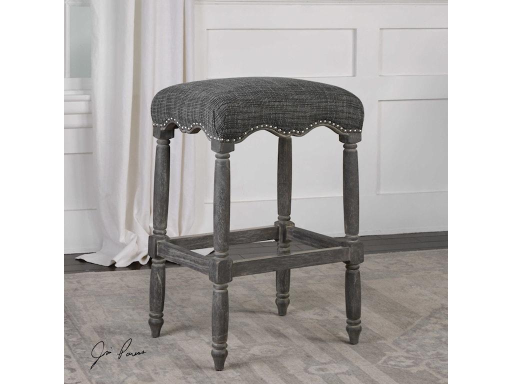 Uttermost Accent FurnitureAiden Brown Gray Bar Stool