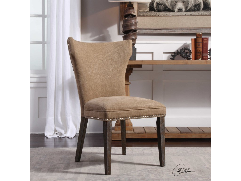 Uttermost Accent FurnitureAaronus Armless Chair