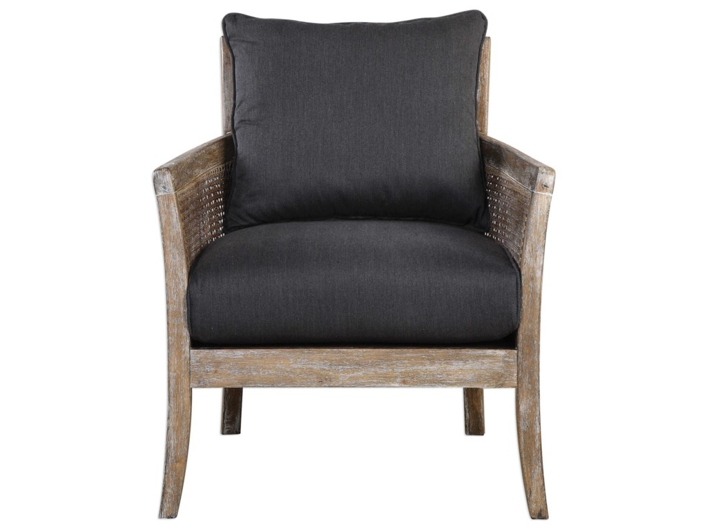 Uttermost Accent FurnitureEncore Dark Gray Armchair