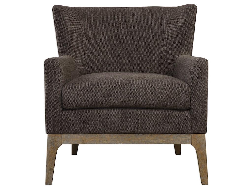 Uttermost Accent FurnitureArzo Dark Gray Armchair
