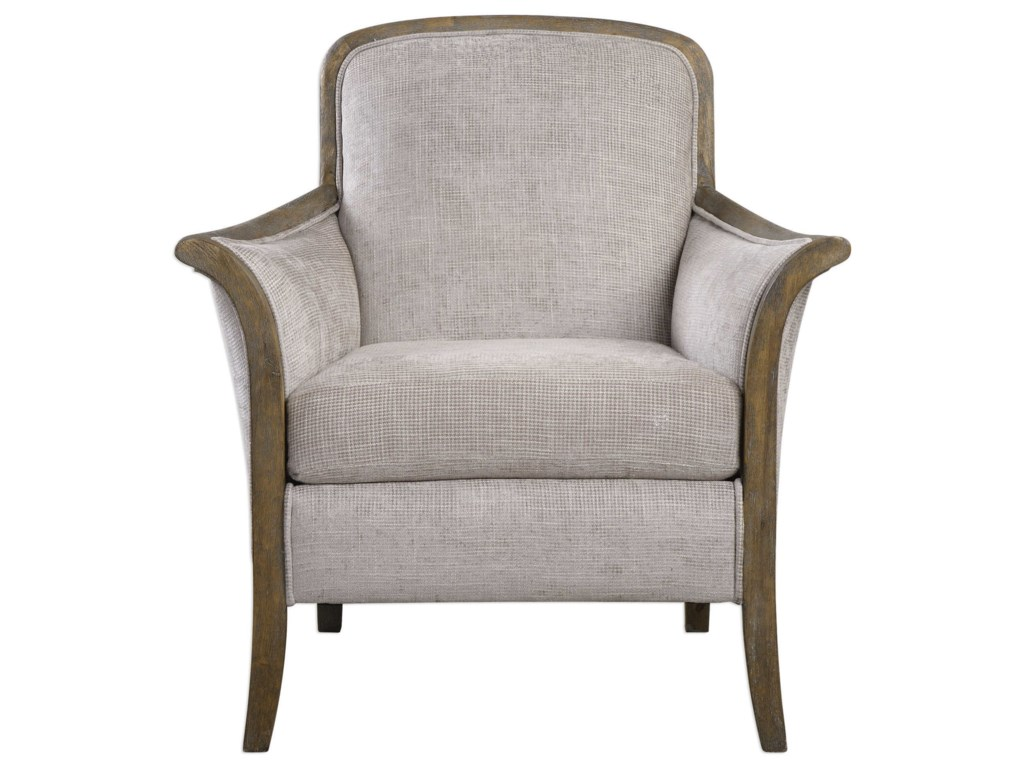 Uttermost Accent Furniture - Accent ChairsBrittoney Taupe Armchair