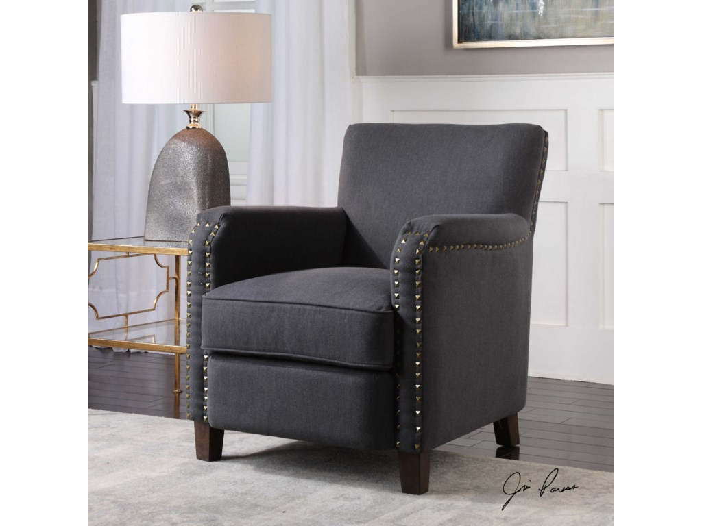 Uttermost Accent FurnitureFinchly Deep Gray Armchair