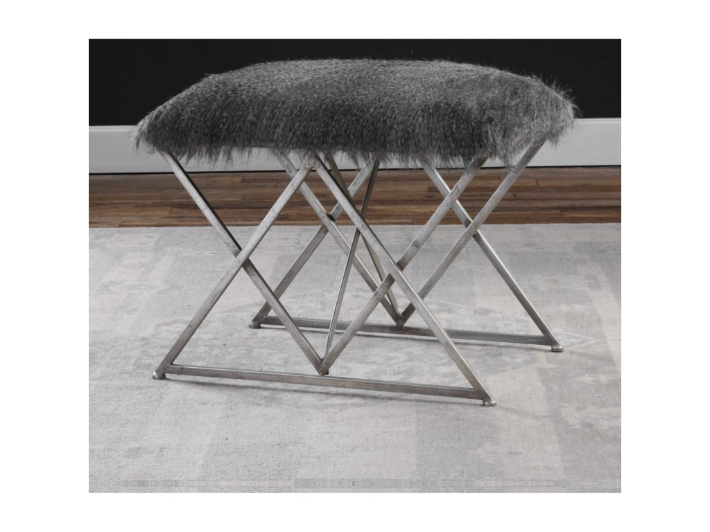Uttermost Accent FurnitureAstairess Fur Small Bench