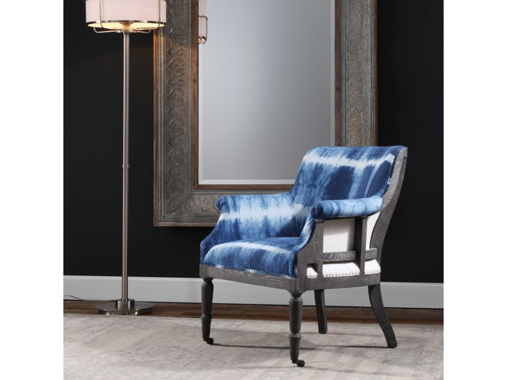 Uttermost Accent FurnitureRoyal Cobalt Blue Accent Chair