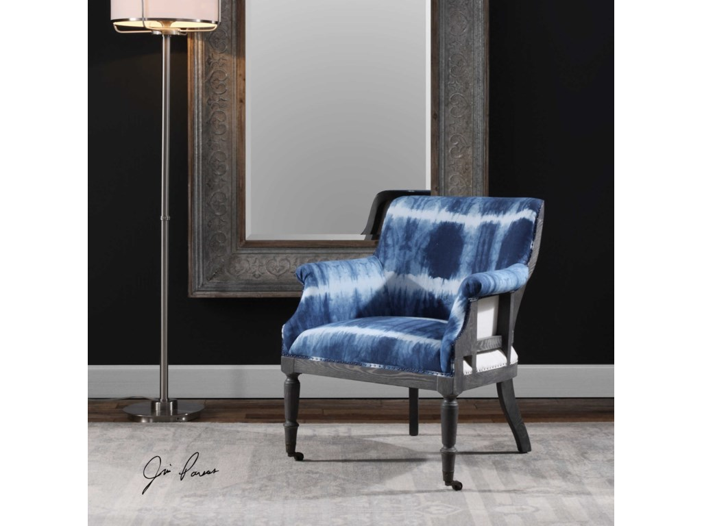 Uttermost Accent FurnitureRoyal Cobalt Blue Accent Chair