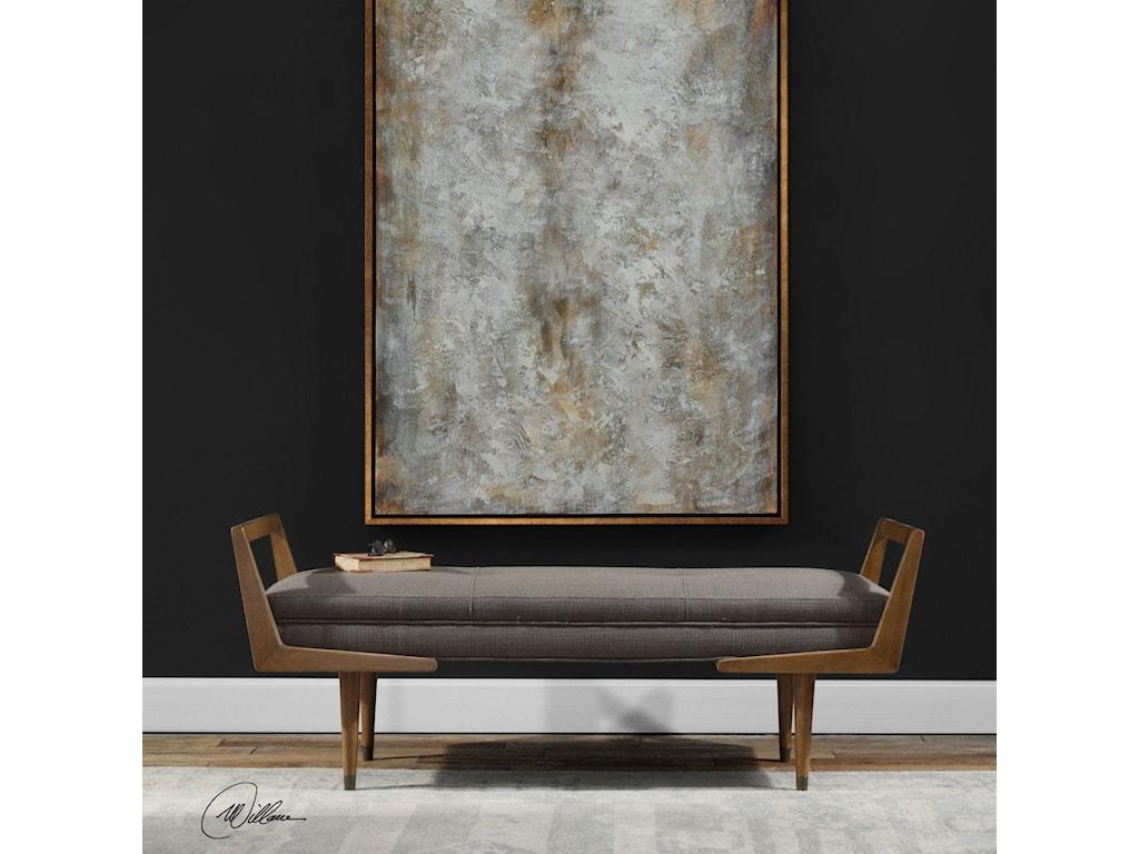 Uttermost Accent FurnitureWaylon Mid-Century Modern Bench