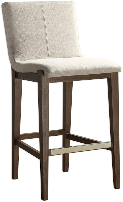 Uttermost Accent Furniture Klemens Linen Bar Stool