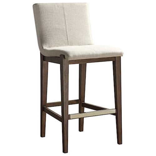 Uttermost Accent Furniture Klemens Linen Bar Stool