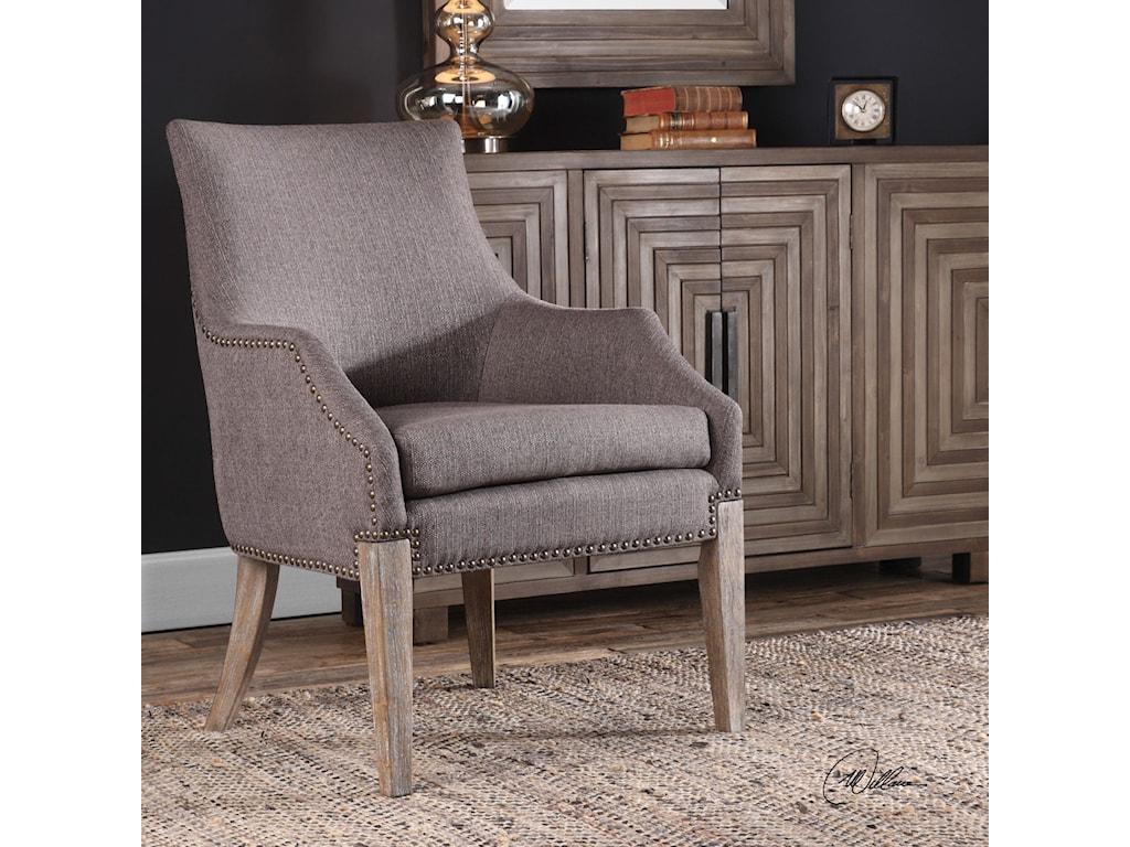 Uttermost Accent FurnitureKarson Caramel Tan Accent Chair