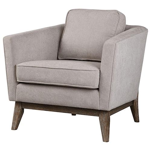 Uttermost Accent Furniture Varner Beige Linen Accent Chair