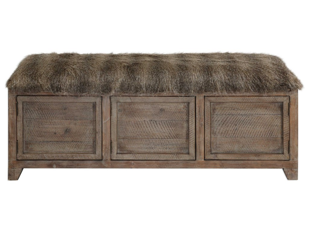 Uttermost Accent FurnitureTruett Wooden Storage Bench