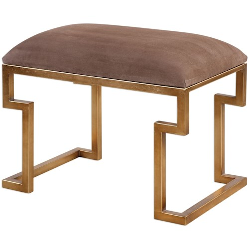 Uttermost Accent Furniture - Benches Lennon Small Leather Bench