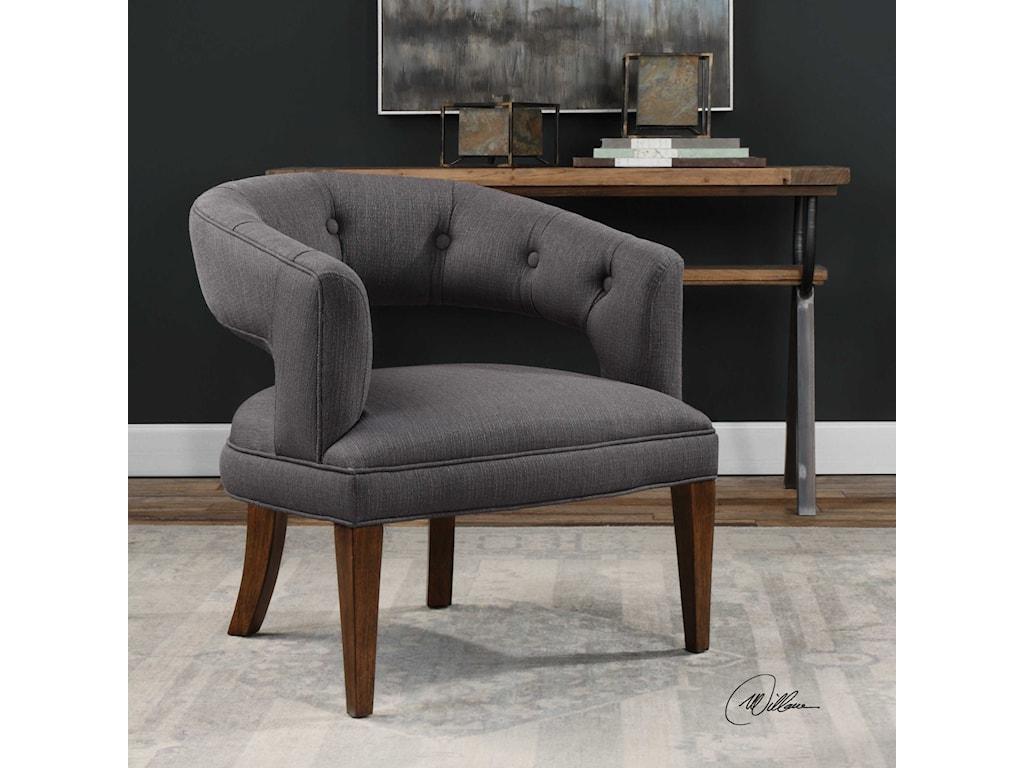 Uttermost Accent FurnitureRidley Charcoal Linen Accent Chair