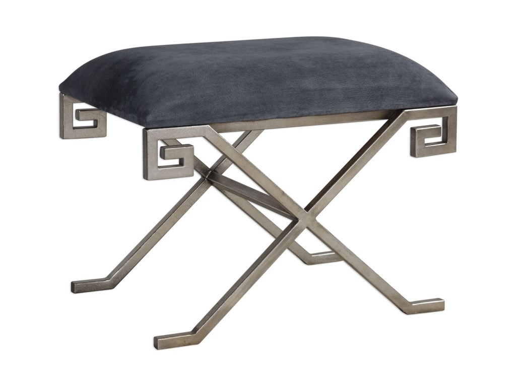 Uttermost Accent FurnitureLiddell Indigo Blue Small Bench
