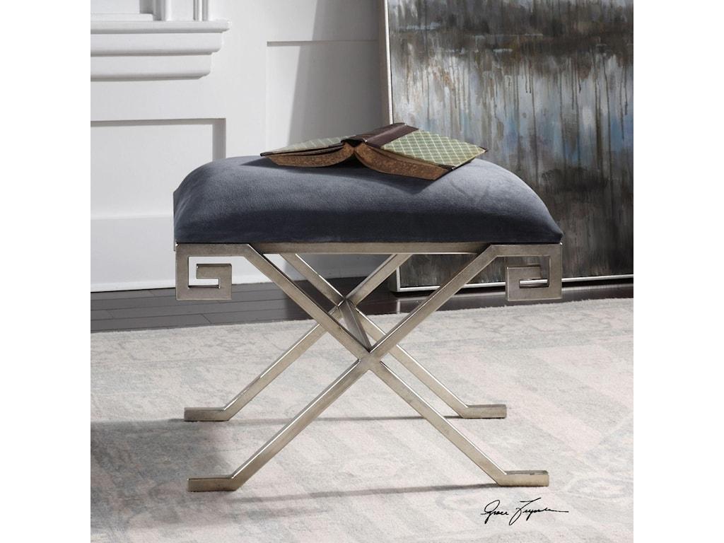 Uttermost Accent FurnitureLiddell Indigo Blue Small Bench