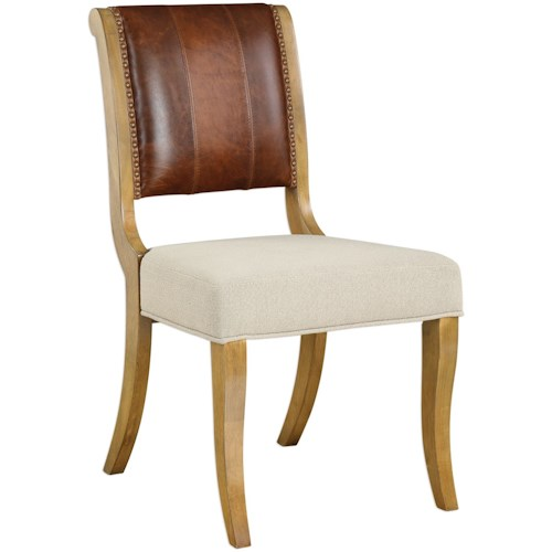 Uttermost Accent Furniture Carson Armless Chair