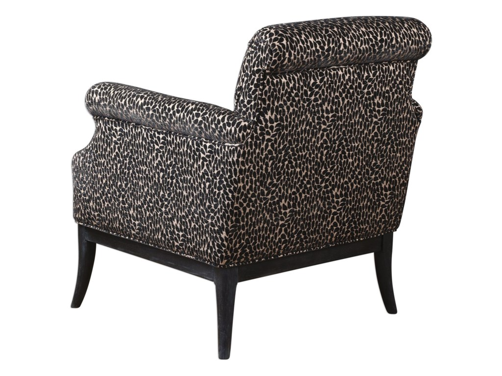 Uttermost Accent FurnitureKaius Tan & Black Accent Chair