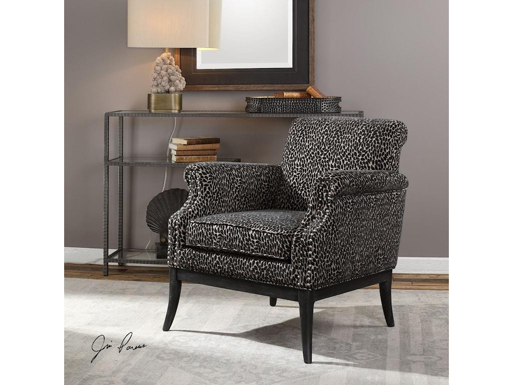 Uttermost Accent FurnitureKaius Tan & Black Accent Chair