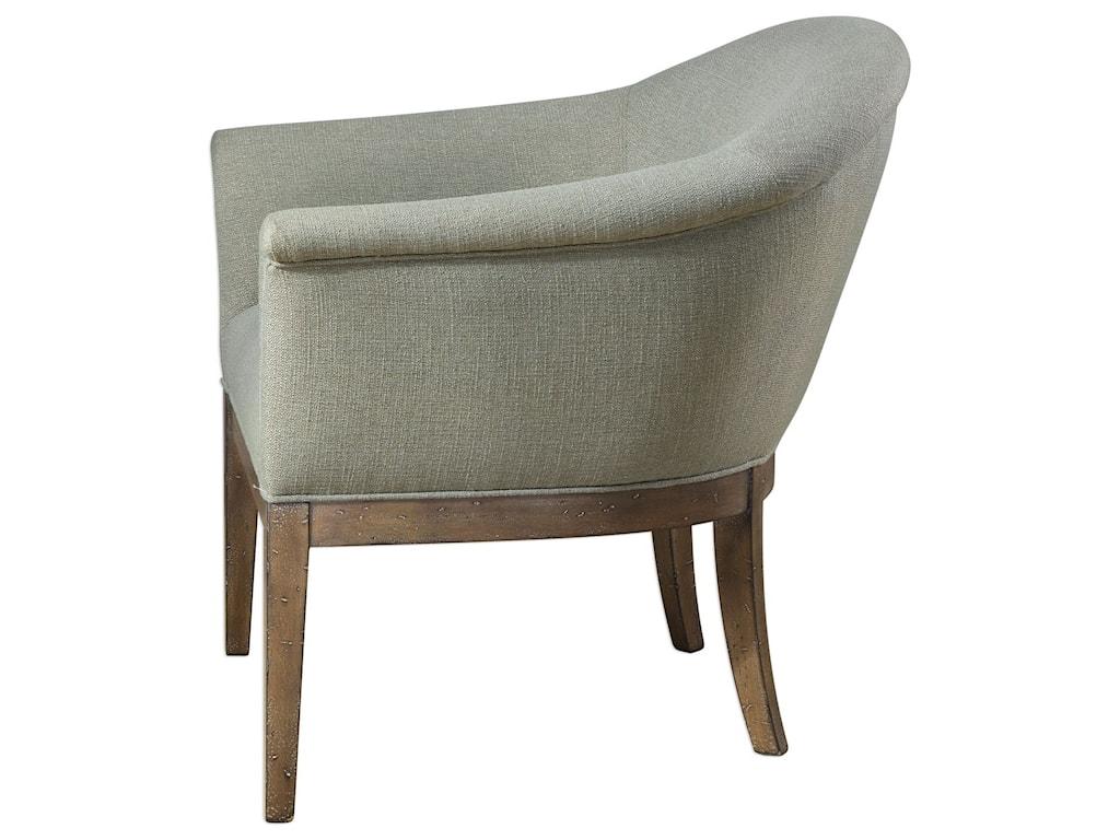 Uttermost Accent Furniture - Accent ChairsMargaux Sea Mist Accent Chair
