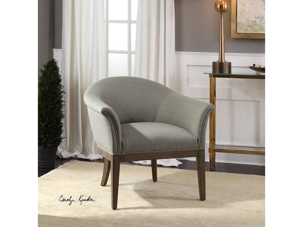 Uttermost Accent FurnitureMargaux Sea Mist Accent Chair