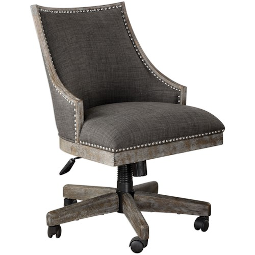 Uttermost Accent Furniture Aidrian Charcoal Desk Chair