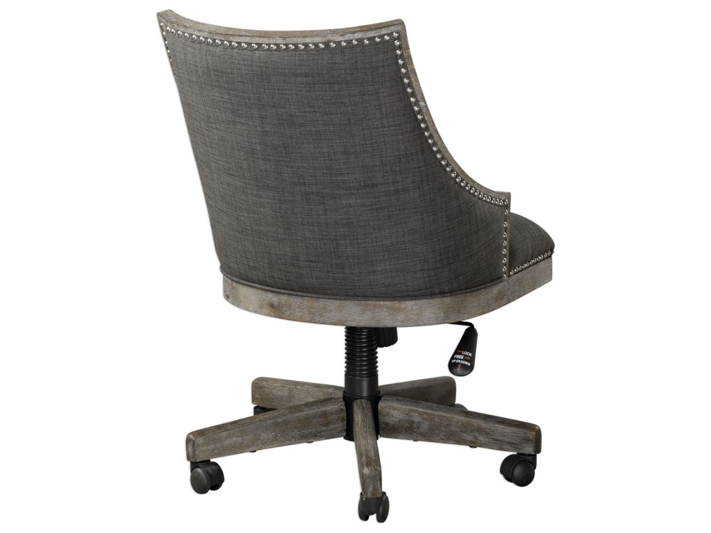 Uttermost Accent FurnitureAidrian Charcoal Desk Chair