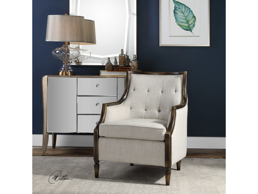 Uttermost Accent Furniture - Accent ChairsBarraud Oatmeal Accent Chair