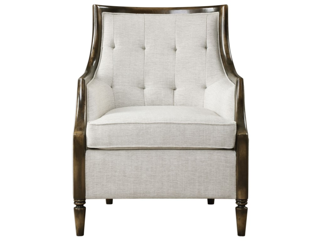 Uttermost Accent Furniture Accent Chairs 23435 Barraud Oatmeal