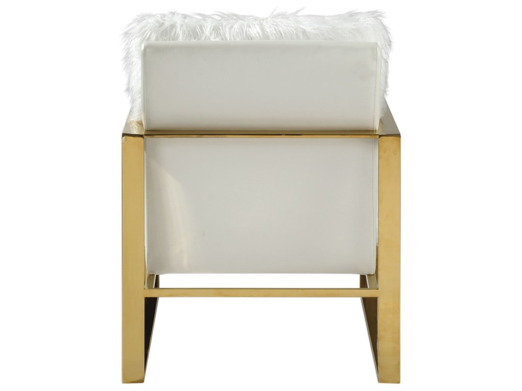 Uttermost Accent FurnitureDelphine White Accent Chair